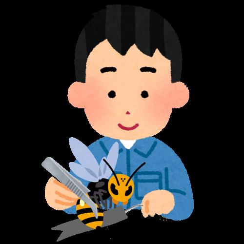 蜂にちらをつける002